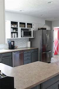 grey white kitchen makeover 2318