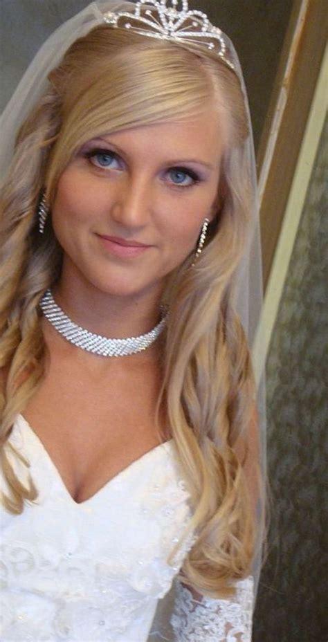 tiara hairstyles ideas  pinterest wedding