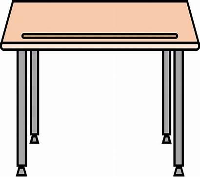 Desk Clipart Table Desks Simple Schulbank Clip