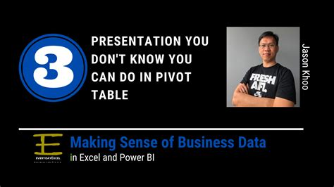 pivot table know dont presentations don