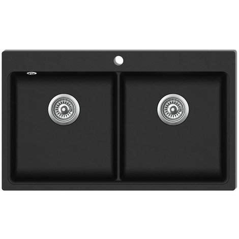 lavello doppio cucina lavandino cucina granito nero doppio con montaggio sopra