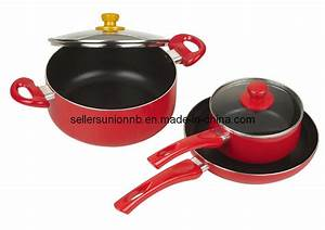 China 5PCS Colorful Non-Stick Cookware, Saucepan,Stock Pot ...