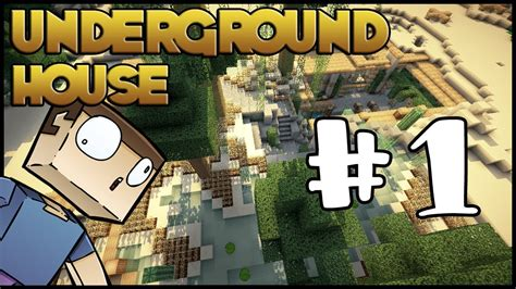 minecraft lets build hd underground house part  youtube