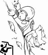 Climbing Coloring Rock Cartoon Pages Extreme Sports Ages Sport sketch template