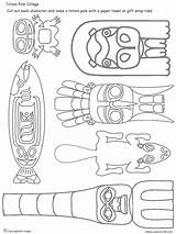 Pole Haida Totem Printable Draw Native American Worksheets Coloring Indianer Poles Crafts Pieces Grade Ausmalen Tiki Mar Totems Lesson Simplicity sketch template