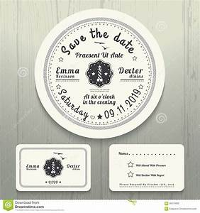 nautical wedding invitation and rsvp round card template With wedding invitation round box