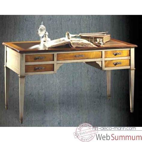 bureau style marin bureau directoire 5 tiroirs 2 tirettes époque 18ème