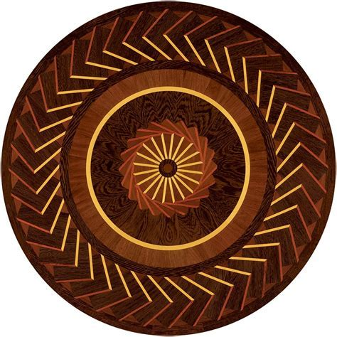 Art Nouveau Wood Medallion   4304   Ipe, Padauk, Wenge