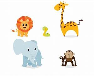 Baby Jungle Animals Clip Art 082012» Vector Clip Art ...