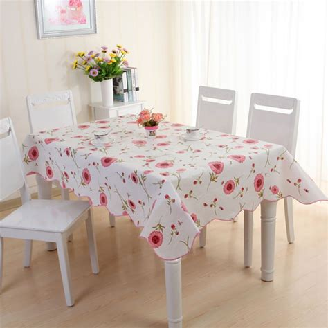 wipe clean pvc table cover cloth tableware tablecloth