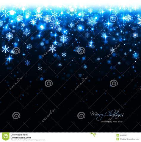 blue christmas background  stars  snowflakes stock