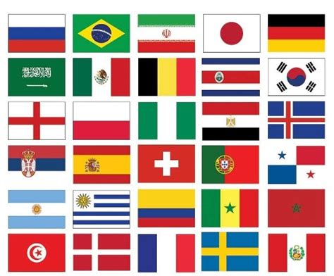32 Nations Football World Cup Flag Pack