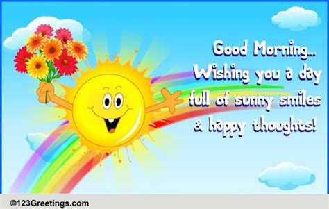 happy thoughts  good morning ecards greeting cards