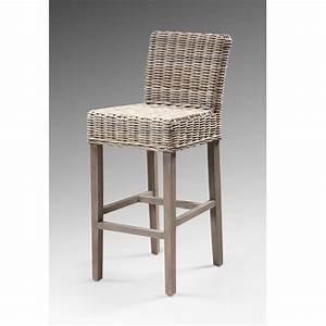 Chaise De Bar En Rotin : chaise rotin pas cher ~ Teatrodelosmanantiales.com Idées de Décoration