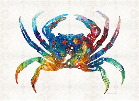 colorful crab by painting by