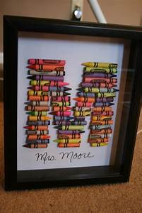 Well how nice crayon monogram for Crayon letter for teacher gift