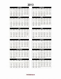 2013 yearly calendar template word one page With microsoft word calendar template 2013