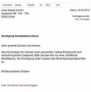 Unitymedia Meine Rechnung : unitymedia k ndigungsschreiben vorlagen zum download ~ Themetempest.com Abrechnung