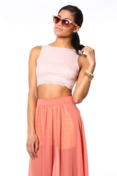light pink crop top lace crop top blush by shopcalico chictopia