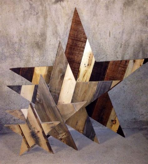 rustic wooden star reclaimed pallet wood wooden stars