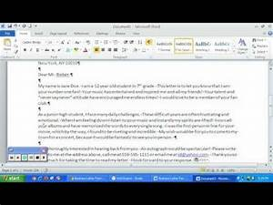 Template For Business Letter Format Business Letter Format Word 2010 Youtube