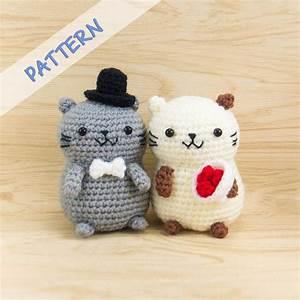 Cat Couple Amigurumi Crochet Pattern – Snacksies Handicraft