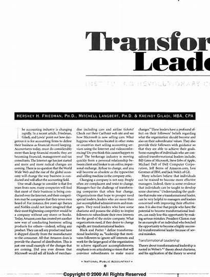 Transformational Abraham Leader