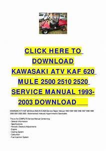 Kawasaki Atv Kaf 620 Mule 2500 2510 2520 Service Manual
