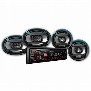 New Pioneer Car Stereo 2 Pairs Speakers Bluetooth Usb And