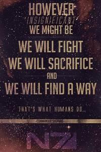 Mass Effect 1 Q... Mass Effect Shepard Quotes