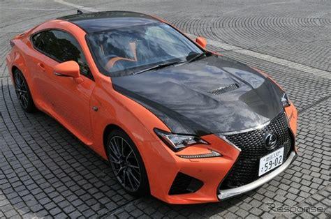 rcf lexus orange lexus rc f comes with unique orange leather in japan