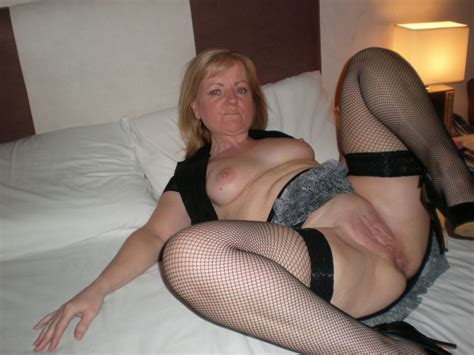 Milf Spreading With Her Legs Open With Stocking On