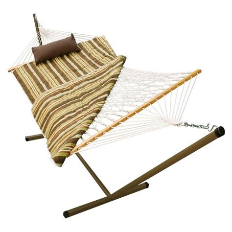 Hammock With Stand Clearance by Outdoor Hammock And Stand Set Beige Brown White