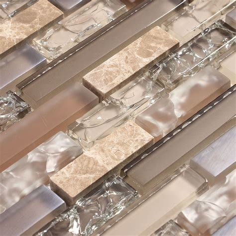 backsplash kitchen glass tile beige and cracked glass tile with and a hint of