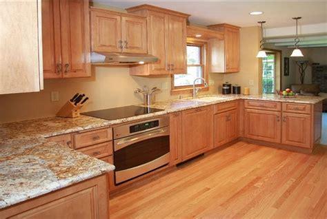 honey oak cabinets what color granite bar cabinet