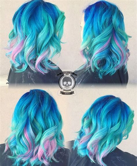 Mermaid Hair Color By Rickey Zito Blue Hair Turquoise Hair
