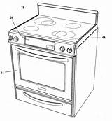 Oven Coloring Template Drawing Patent Convection Sketch Microwave Pages Patents sketch template