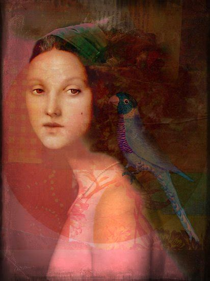 Girl With Parrot Catrin Welz Stein Redbubble