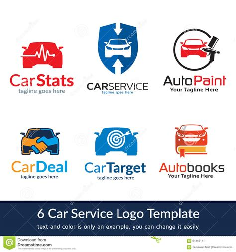 Car Service Company by Car Business Logo Template Design Stock Vector Image