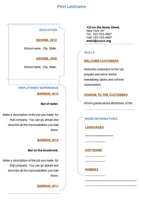 free blank resume templates for microsoft word f resume