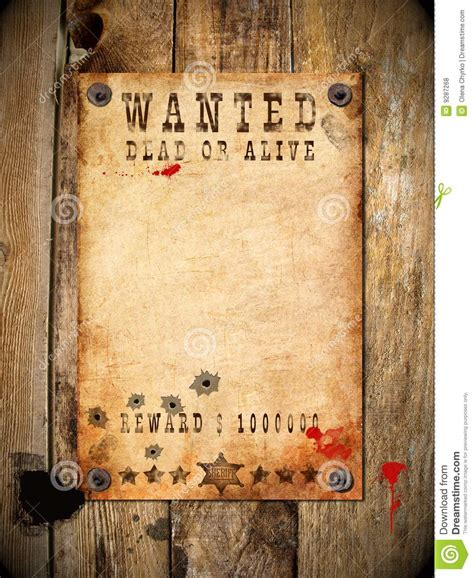 vintage wanted poster royalty  stock  image