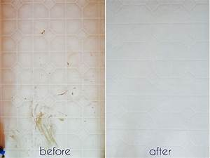 Painting bathroom tile before and after bathroom tile for Paint for tile in bathroom