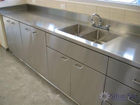 stainless steel countertops cabinets