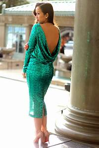 Blush Sequin Backless Dresses Ideas – Designers Outfits ...