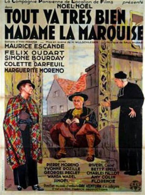 tout va tres bien mme la marquise tout va tr 232 s bien madame la marquise 1936 unifrance