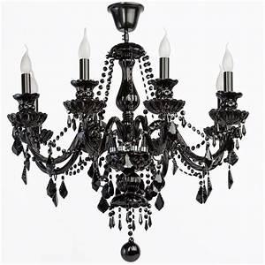 Lustre Metal Noir : lustre gothique pampilles m tal noir 8 clairages luminaires ~ Teatrodelosmanantiales.com Idées de Décoration