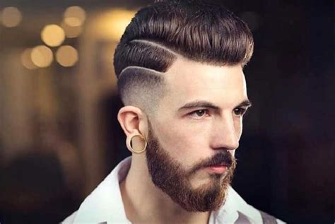 11 creative men s haircuts with a line on side