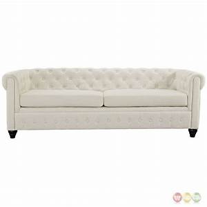 earl contemporary button tufted upholstered sofa w wood With tufted upholstered sectional sofa