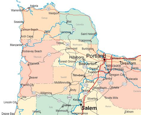 gallery  oregon maps