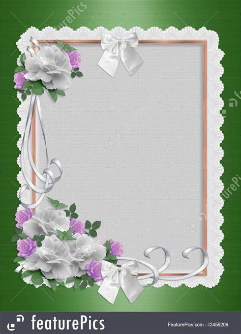 templates daisy border wedding invitation stock